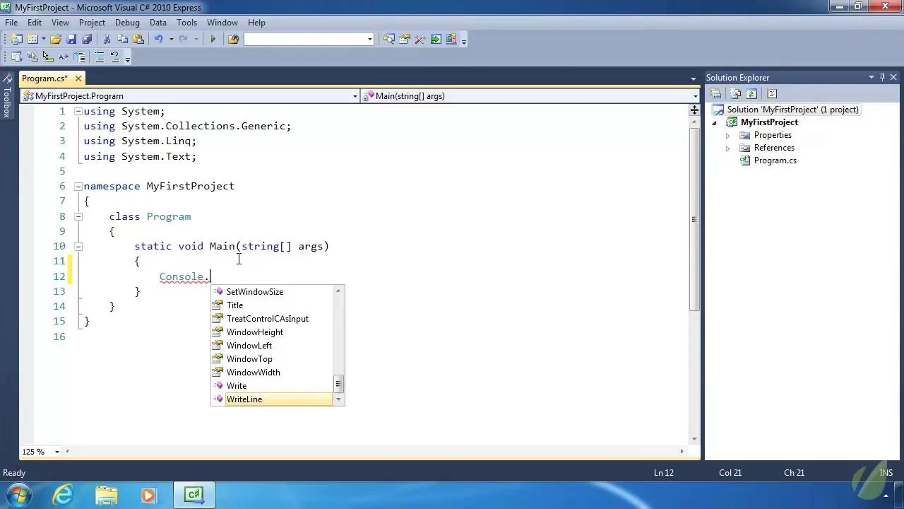 C# .NET Hallo world